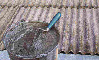 Как заделать дырку в шифере на крыше?
