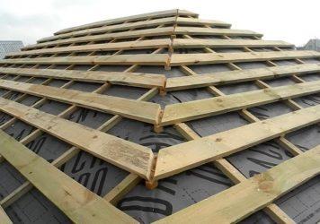 Обрешетка вальмовой крыши под металлочерепицу