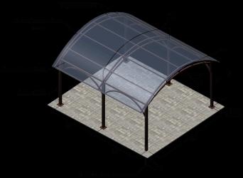 Толщина поликарбоната для навеса под машину