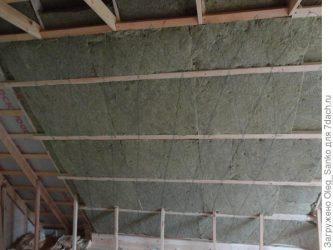 Утепление металлической крыши изнутри