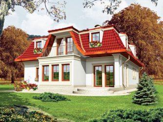 Красивые крыши частных домов с мансардой